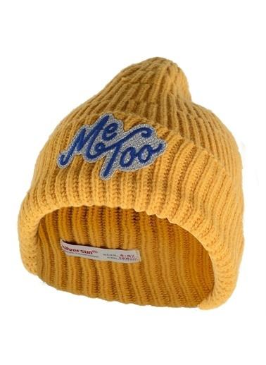 Silversun Kids Yakası Kürklü Önden Düğmeli Uzun Kol Kız Genç Şapka Bs 315238 Sarı